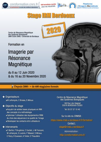 Stage IRM 2020 (Bordeaux)